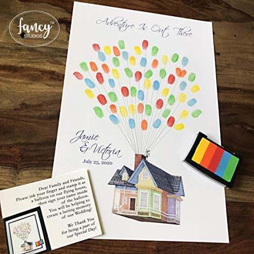 Unique Disney Wedding Guest Book Ideas: Amazon.com: Thumbprint Wedding Guestbook Alternative House