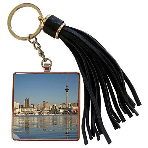 3dRose Danita Delimont - City Skylines - City skyline, Auckland CBD, North Island, New Zealand-AU02 DWA3798 - David Wall - Tassel Key Chain (tkc_71159_1) (Auckland Cbd Auckland)