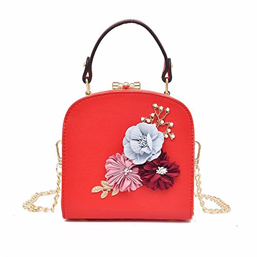 Meaeo The New Diagonal Shoulder Bag Bag, Pink Red