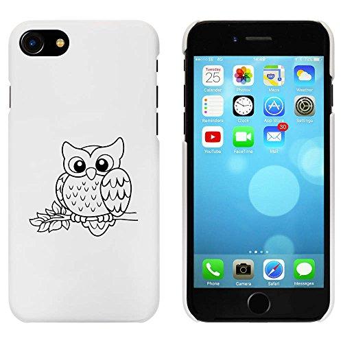 Blanc 'Hibou Mignon' étui / housse pour iPhone 7 (MC00082140)