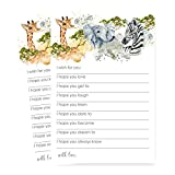 Jungle Animal Wishes for Baby Game Card Set of 25