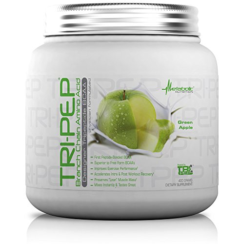 Post Nutrition (Metabolic Nutrition, TRIPEP, 100% Tri-Peptide Branch Chain Amino Acid, BCAA Powder, Pre Intra Post Workout Supplement, Green Apple, 400 grams (40 servings))