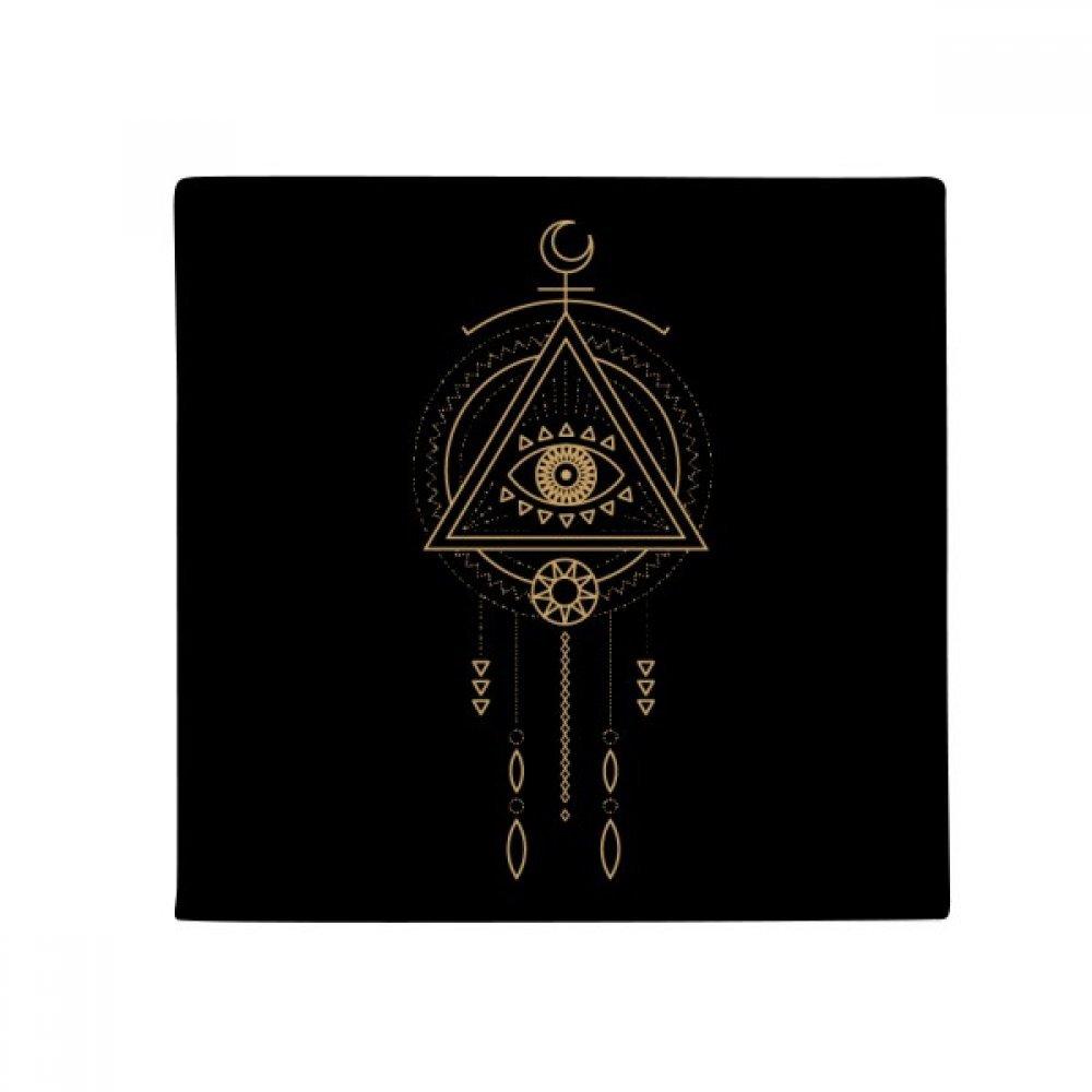 DIYthinker Geometry Alien Triangle Totem Pattern Anti-Slip Floor Pet Mat Square Home Kitchen Door 80Cm Gift