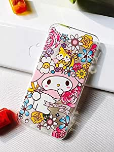 For iPhone 6 plus Case, Dakotacase - Transparent Slim My Melody Patterns TPU Gel Cover Hard Case Fit for Apple iPhone 6 plus 5.5 inch (Melody - 01)