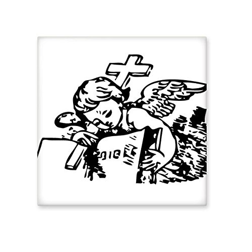 low-cost Religion Christianity Belief Church Black Holy Cross Angle Bible Culture Art Illustration Pattern Ceramic Bisque Tiles for Decorating Bathroom Decor Kitchen Ceramic Tiles Wall Tiles