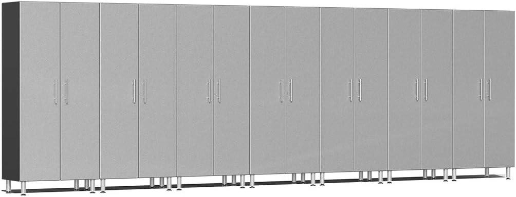 Ulti-MATE UG22670S 7-Piece Tall Garage Cabinet Kit in Stardust Silver Metallic