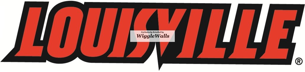 6 Inch Text University of Louisville Cardinals UL UofL Removable Wall Decal Sticker Art NCAA Home Room Decor 6 by 1 Inches