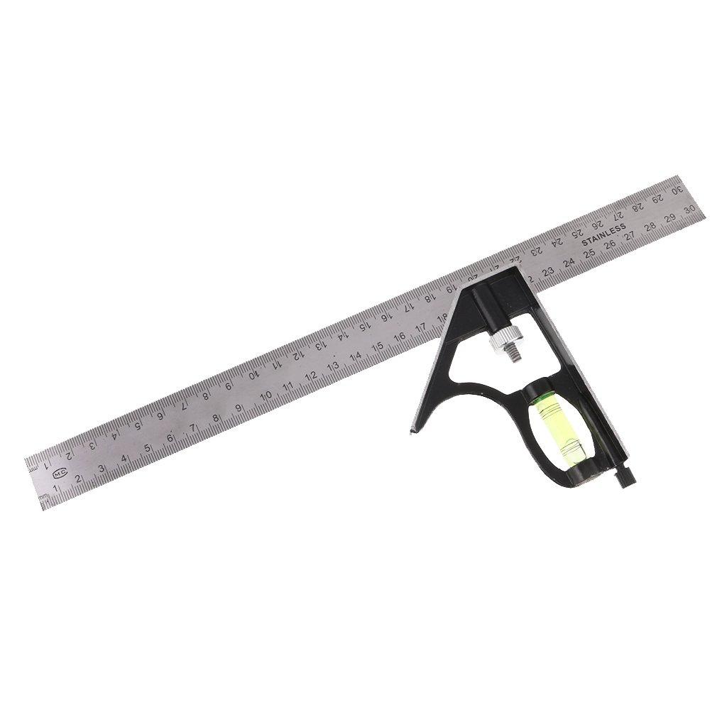 Gazechimp 1x Escuadra Combinada Regla de á ngulo de 300mm Ajustable Bricolaje DIY Multifuncional