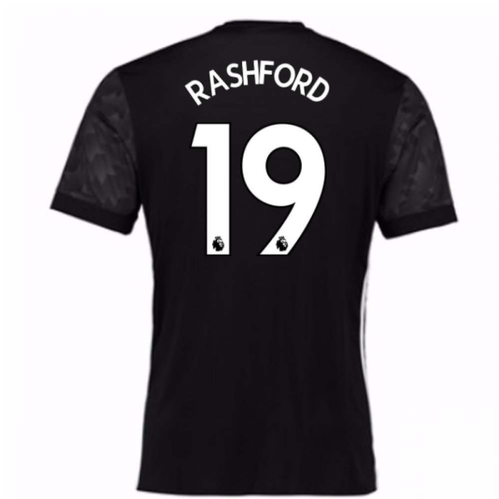 2017-18 Man Utd Away Football Soccer T-Shirt Trikot (Kids) (Marcus Rashford 19)