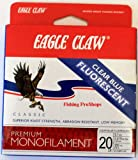 Eagle Claw Cast 300-Yard 17-Pound Classic Fishing Line, Clear/Blue Fluorescent, 20