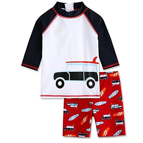 Vaenait baby 2T-7T Kids Boys Rashguard Swimsuit Bathing Suit Swimwear Sets Toddler