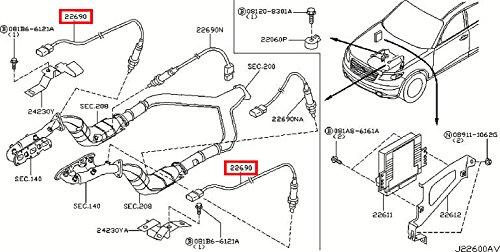 Infiniti Q45 O2 Sensor Bank 1 Location as well Nissan Frontier Catalytic Converter Diagram in addition 3 0l Acura Firing Order moreover Peugeot 206 Engine Sd Sensor Location as well By car. on nissan 350z oxygen sensor
