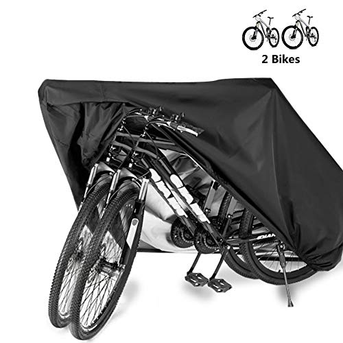 Bike Cover Bicycle Waterproof Outdoor Motorcycle Covers XL XXL for 2/3 Bikes Dust Rain Wind Snow Proof Lock Hole for Mountain Road Electric Bike