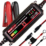 Motopower MP00207A 12V 2Amp Smart Automatic Battery Charger/Maintainer for Both Lead Acid Batteries