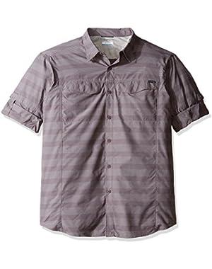 Men's Big-Tall Silver Ridge Plaid Long Sleeve Shirt, Purple Sage Stripe, X-Large