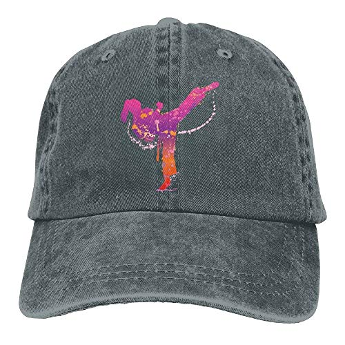 ssribeautyk Karate Girl Denim Hat Adjustable Male Stretch