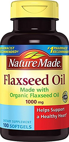 Nature Made Flaxseed Oil 1000mg, 100 Softgels (Pack of 3)