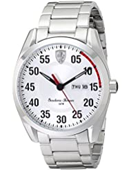 Ferrari Mens 0830178 D 50 Analog Display Quartz Silver Watch