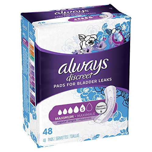 Always Discreet, Incontinence Pads, Maximum, Regular Length, 48 Count by Always Discreet (Image #1)