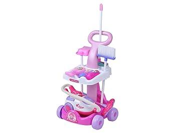 ISO TRADE Juego de Carro de Limpieza con aspiradora + Accesorios 4696: Amazon.es: Juguetes y juegos