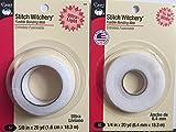Bundle Stitch Witchery hemming tape 5/8'' ULTRA 20 yds & 1/4'' REGULAR 20 yds fusible bonding web tape
