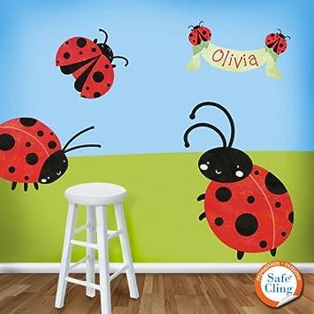 My Wonderful Walls Ladybug Wall Stickers Decals  Red Black White. Amazon com  My Wonderful Walls Ladybug Wall Stickers Decals  Red