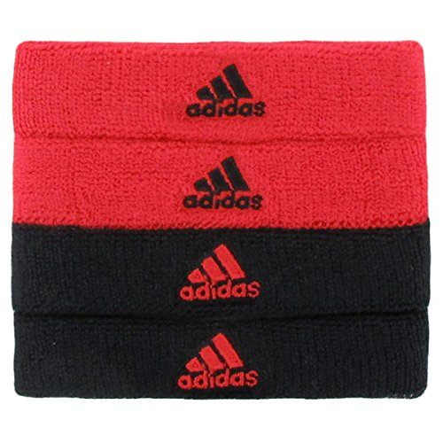adidas Interval 3/4-inch Bicep Band Sweatband, Hi-Res Red/Black, One Size