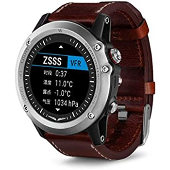 Gosuper Luxury Genuine Leather Smart Watch Band Strap Single Tour Replacement for Garmin Fenix 3