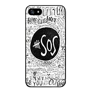 Andre-case Color.Dream Hot Style SOS Calls The Music World Hard Plastic Back case cover cell phone protective case cover for RvDk6xfbf86 iPhone 5s for you
