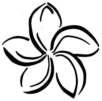 amazon com fancy plumeria flower hawaii islands wax seal stamp rh amazon com plumeria flower clip art plumeria clip art free