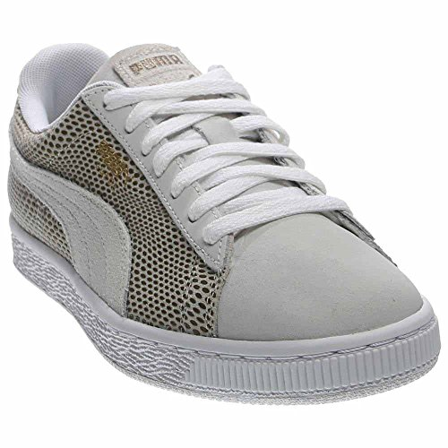 PUMA Women's Suede Gold Fashion Sneaker - Puma White (Large Image)