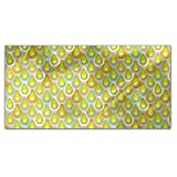 Abstract Scales Rectangle Tablecloth: Medium Dining Room Kitchen Woven Polyester Custom Print