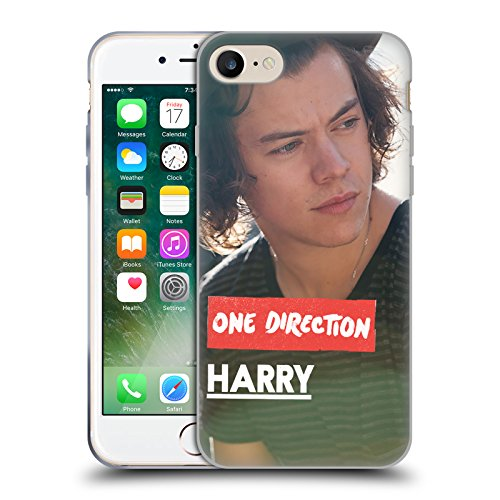 Official One Direction Side View Harry Styles Photo Soft Gel Case for Apple iPhone 7 / iPhone 8