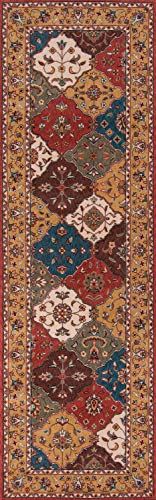 (Momeni Rugs PERGAPG-11MTI2680 Persian Garden Collection, 100% New Zealand Wool Traditional Area Rug, 2'6