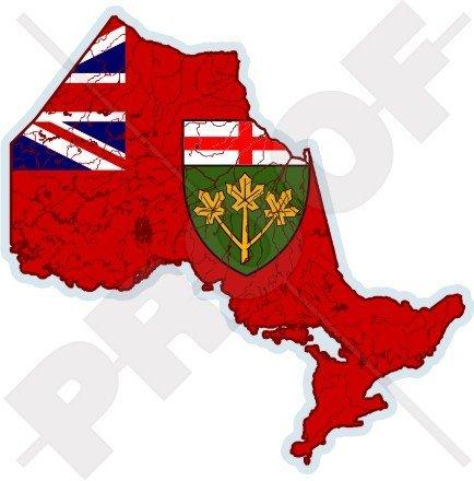 Ontario Canada Pc - ONTARIO Province Map-Flag CANADA Canadian 4