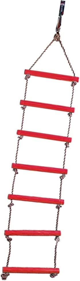 Tree House Play Set Playground Climbing Game for Swing Accessories CUTICATE 200cm Rope Ladder 6 Rungs Climbing Rope for Kids /& Adults