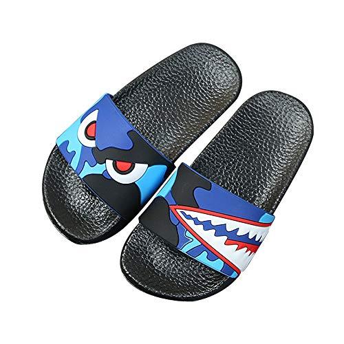 Adult Cute Sandals - SITAILE Womens Slide Sandals Slip on Cute Outdoor Indoor Athletic Sport Slides Cartoon Slippers Darkblue Size 8