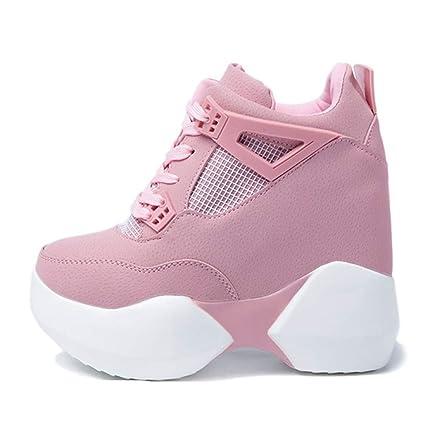 d8963963abe13 Amazon.com: Women High Heels Casual Wedge Sneaker Fashion Internal ...