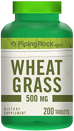 Piping Rock Wheat Grass 500 mg 200 Tablets Dietary Supplement