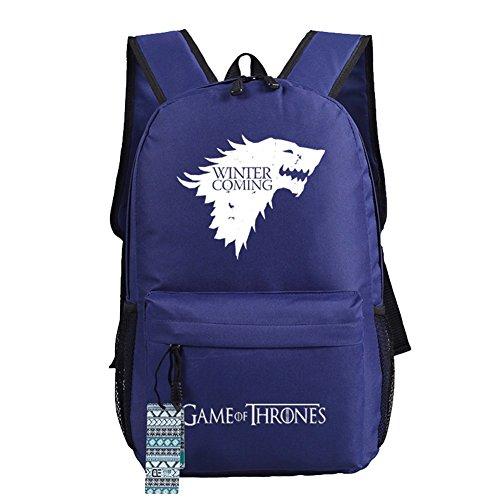 Game Of Thrones Una Canción De Hielo Y Fuego Stark Sigil Cosplay Casual Bag Mochila Escolar 4 Opciones Blue 1