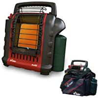 Mr. Heater Portable Buddy Propane Heater (Red-black + Carry Bag)