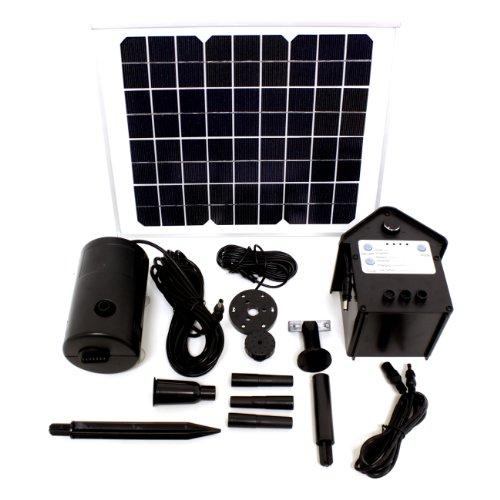 Lucent 10 Watt Solar Powered Outdoor Garden Water Pump La...