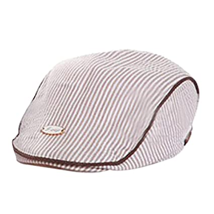 b1952f91 Image Unavailable. Image not available for. Color: ❤ Mealeaf ❤ Cute Baby  Infant Boy Girl Stripe Beret Cap Peaked Baseball Hat