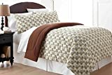 Shavel Home Products MFNCMTWPCN Micro Flannel Twin Reversible Comforter with 1 Standard Sham, Pinecone