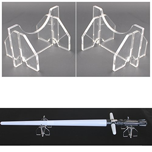 YYST Light Saber Display Stand Light Saber Desk Display Rack - No Lightsaber - Clear for $<!--$8.99-->