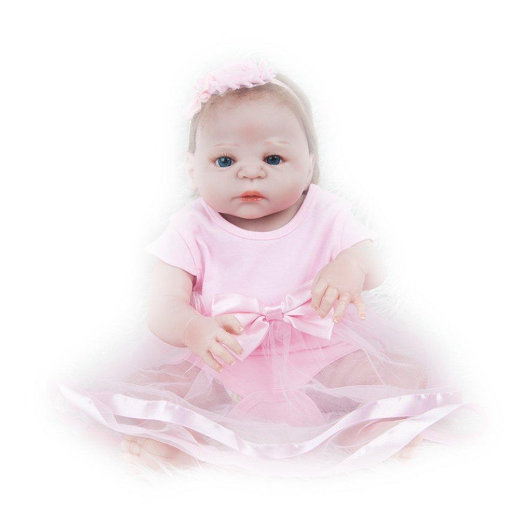LINAG Muñeca Renacida Bebé Realista Vinilo Silicona Lifelike Doll Cumpleaños Regalo Juguetes Toque Suave Fashion 57cm Doll-27646 Rosado Temprana Educación Regalo Casa Jugar