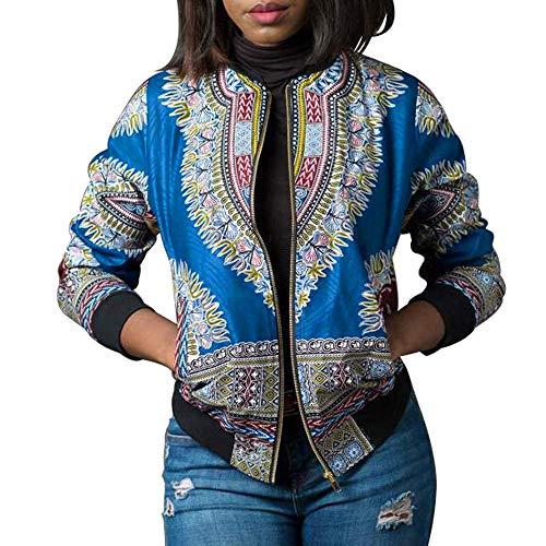 Clearance African CoatDashiki Qiusa Jacket Fashion Short Per Women Manica Casual DonnacoloreNeroDimensione Lunga Print LargeViola 29YDHEIeWb