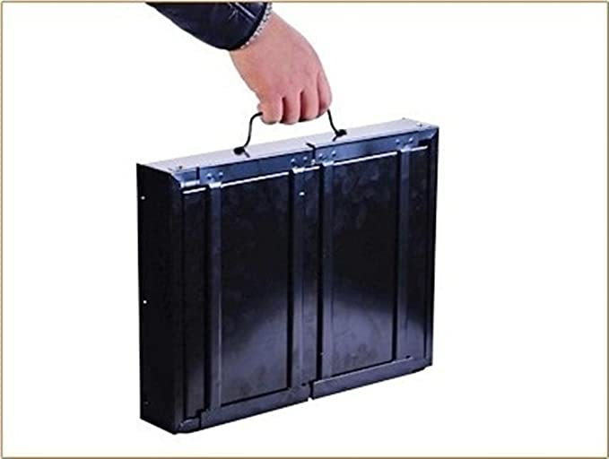 BBQER-A Parrilla plegable casera barbacoa al aire libre portable carbón de leña estufa de barbacoa, acero inoxidable negro con malla de hierro: Amazon.es: ...