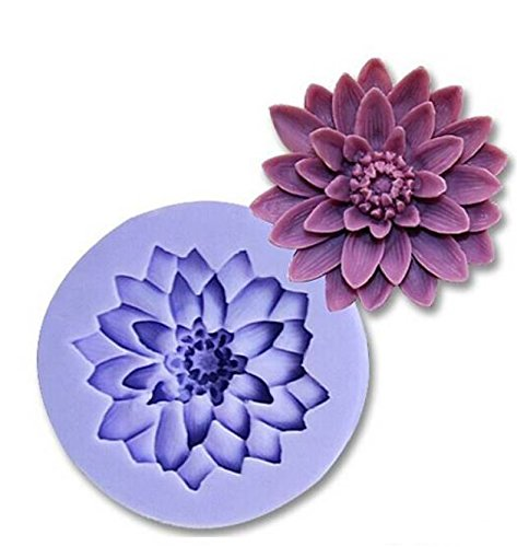Cavities Big Flower Silicone Cake Baking Mold Cake Pan Muffin Cups Handmade Soap Moulds Biscuit Chocolate Ice Cube Tray DIY Mold (Chrysanthemum 5.8*5.8*1.8 (Big Halloween Cakes)