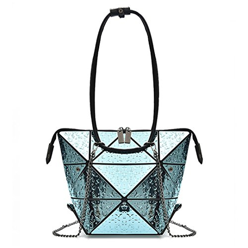 Chain Blue Women's Bags Geometry Rhombus Drops Bogey Fashion Nano Folding Tote 7P6ZnO